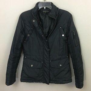 Black Puffer Utility Jacket